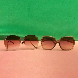 Accessories - Two Paid of Oversized Sunglasses
